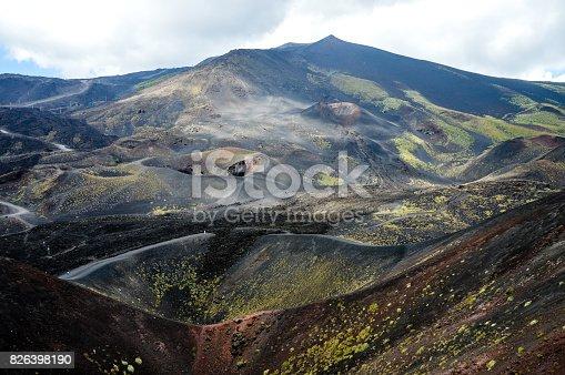 Mount Etna volcano in Sicily, Italy