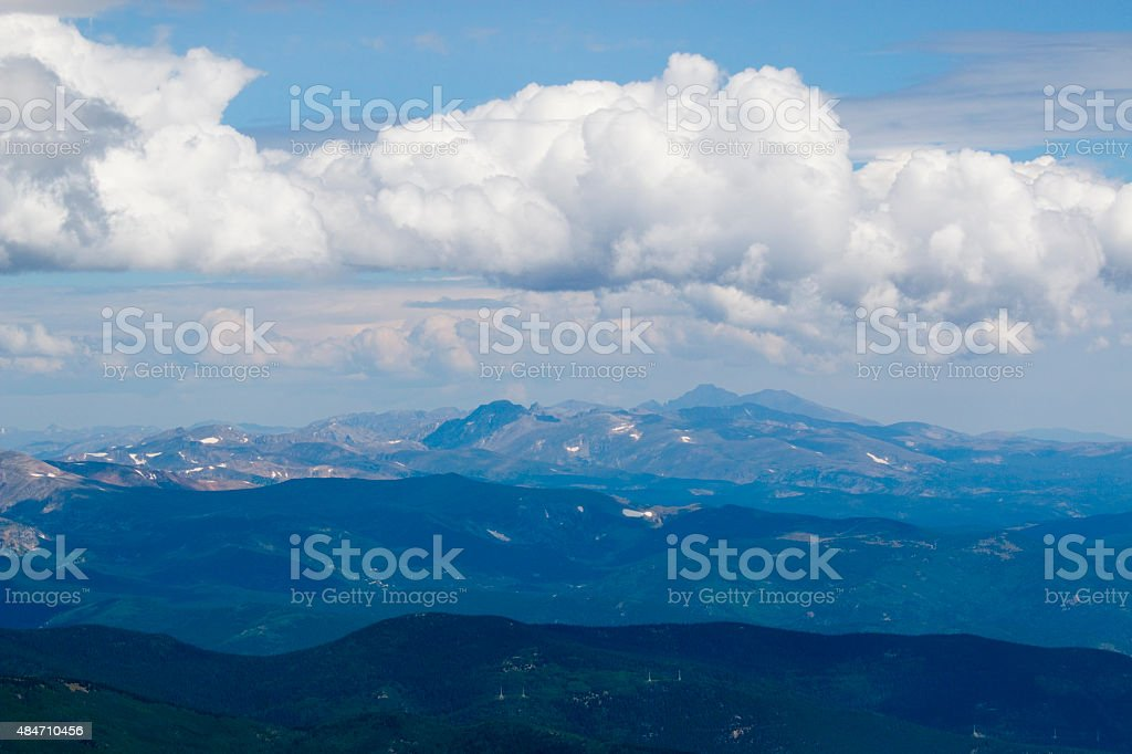 Mount Evans Scenery in the Rocky Mountains of Colorado stock photo