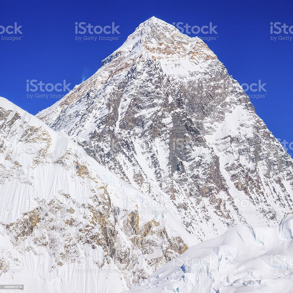 Mount Everest 49MPix panoramic view from Kala Pattar royalty-free stock photo