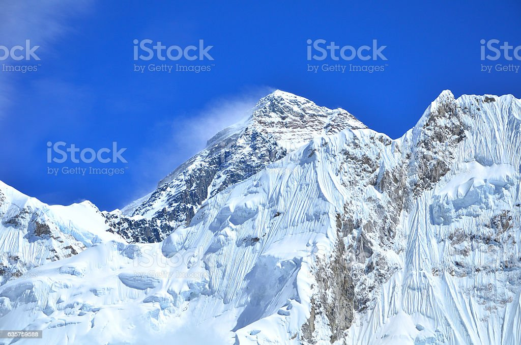 Mount Everest at Nepal stock photo