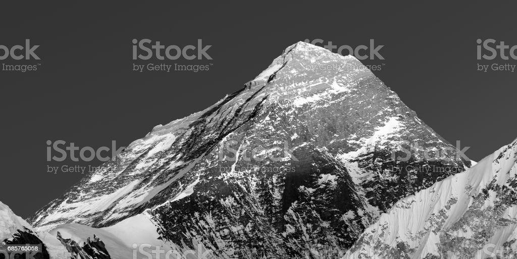 Monte Everest de Valle de Gokyo foto de stock libre de derechos