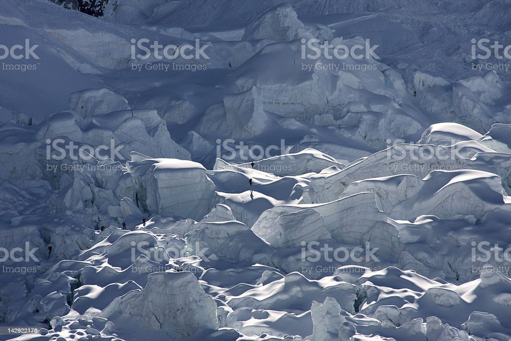 Mount Everest icefall stock photo