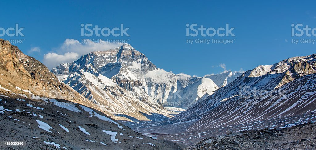 Mount Everest in the Morning stock photo