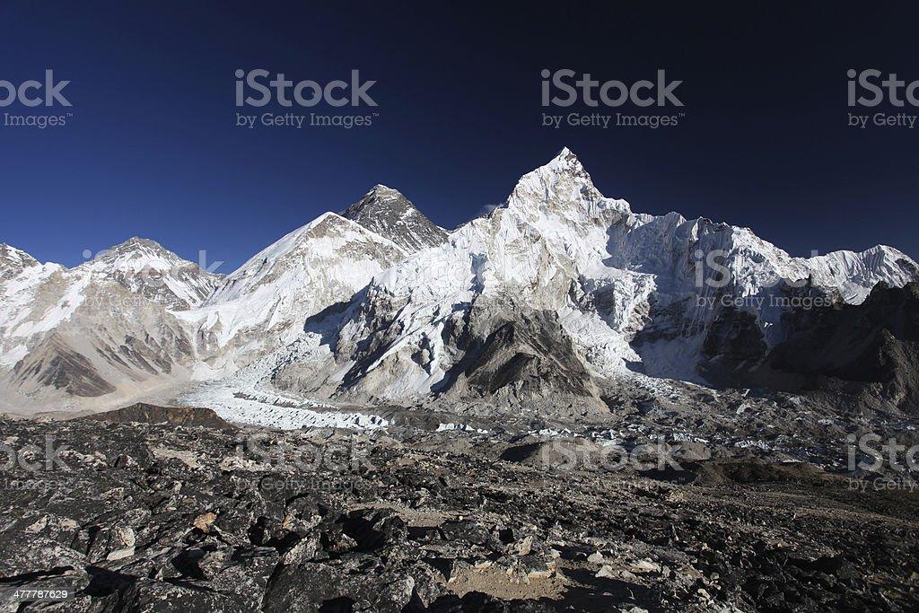 Mount Everest, Lhotse, Nuptse. royalty-free stock photo