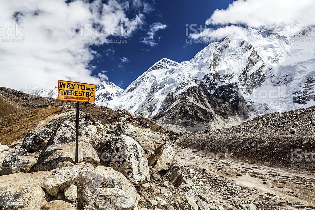 Mount Everest Wegweiser – Foto