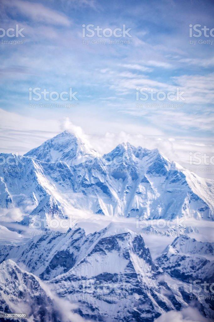 Mount Everest, Himalaya - Royalty-free Aangelegd Stockfoto