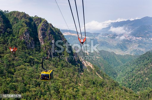 View from a cable car in Sapa, Vietnam