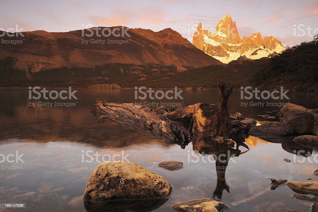 Mount Fitz Roy at Dawn royalty-free stock photo