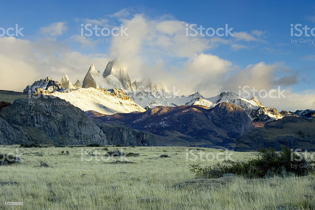 Mount Fitzroy shortly after dawn royalty-free stock photo