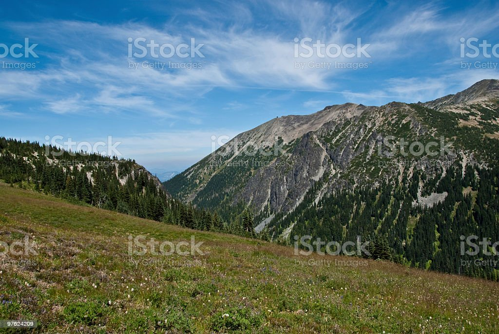 Mont Fremont et de gratte-ciel de Meadows photo libre de droits