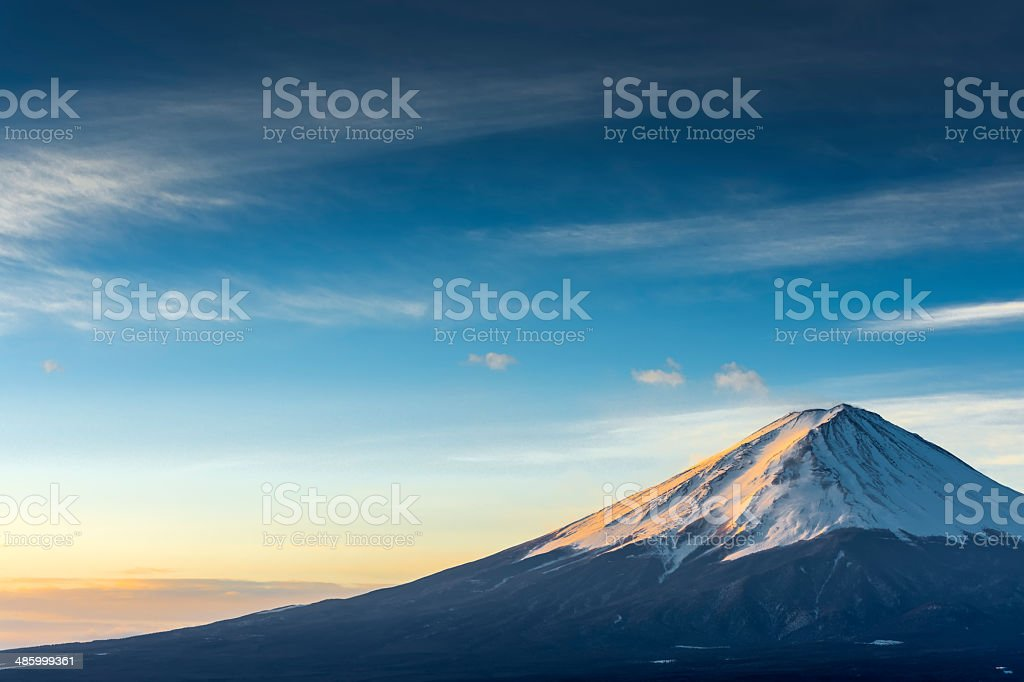 Mount Fuji at Kawaguchi Lake stock photo