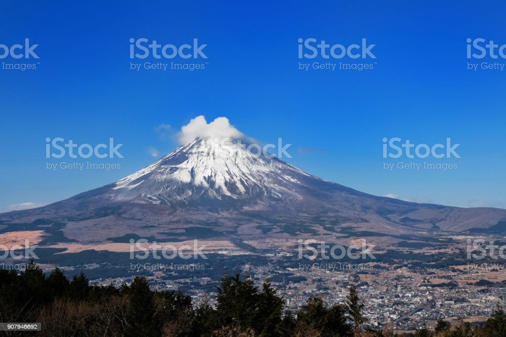 Mount Fuji From Hakone Area stock photo