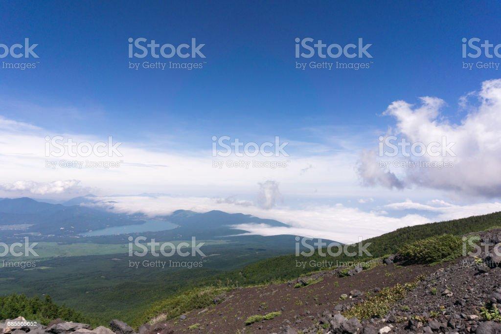 富士山,日本從吉田小徑攀登。 免版稅 stock photo