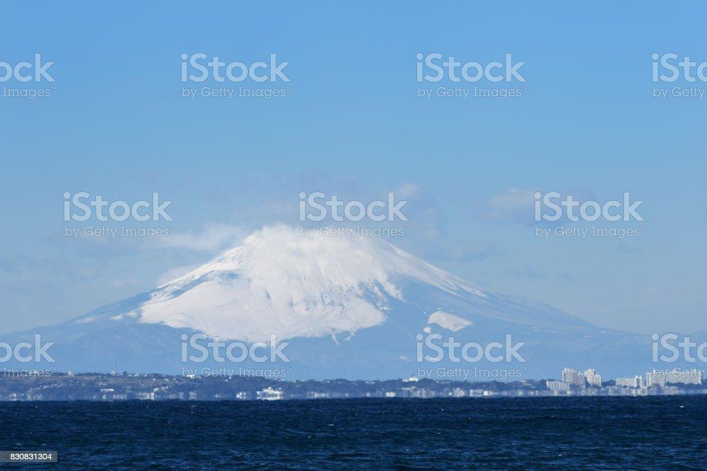Mount Fuji to watch from Tateyama stock photo