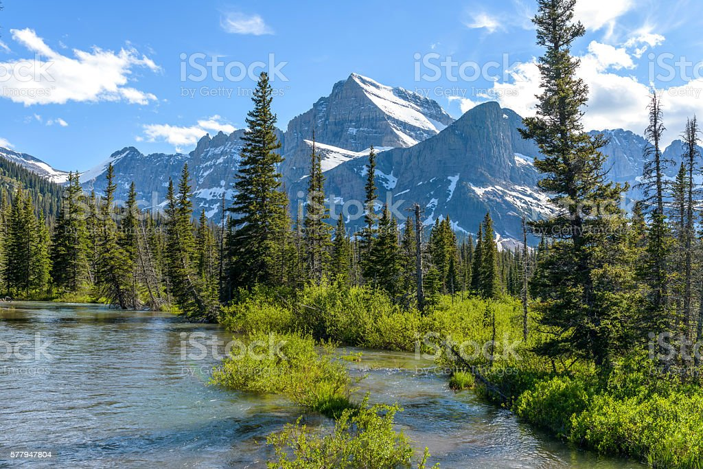 Mount Gould at Cataract Creek stock photo