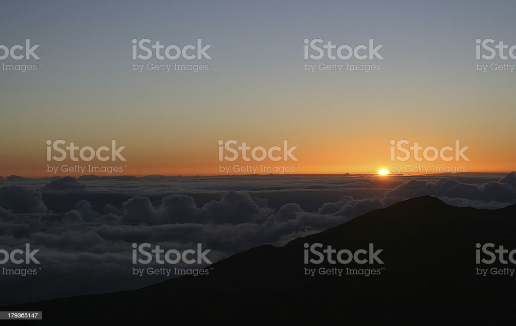 Mount Haleakala Sunrise royalty-free stock photo
