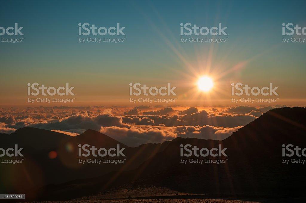 Mount Haleakala Sunrise stock photo