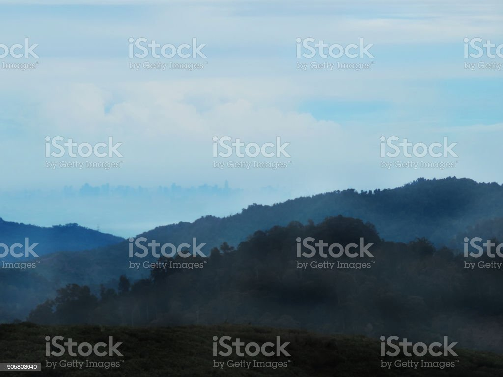 Mount Halimun Salak National Park stock photo
