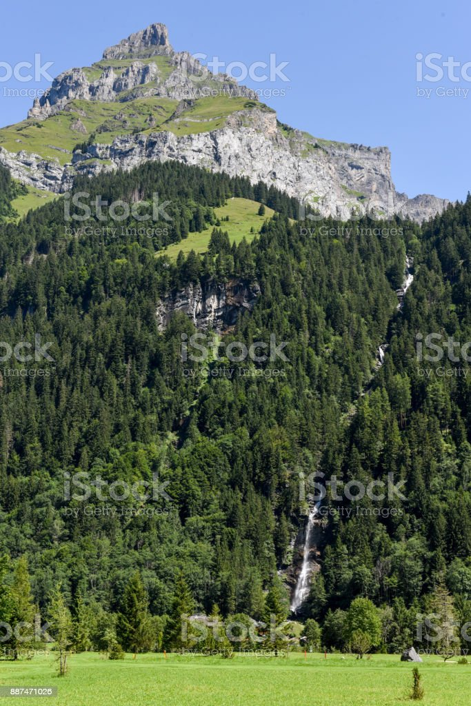 Mount Hanen at Engelberg on Switzerland stock photo
