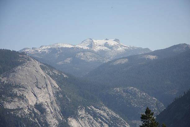 Mount Hoffman in Yosemite National Park stock photo