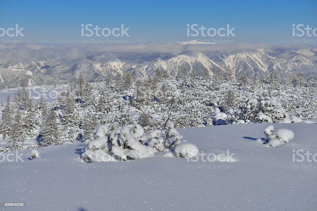 Mount 'Hoher Nock' in Upper Austria stock photo