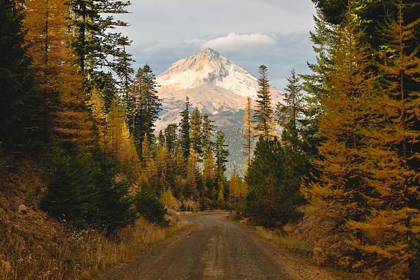 mount hood w oprawie z naturą - góry kaskadowe zdjęcia i obrazy z banku zdjęć