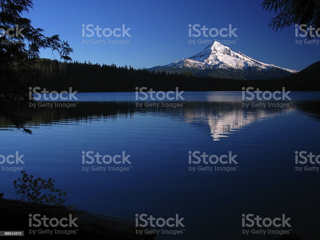 Mount Hood from Lost Lake royalty-free stock photo