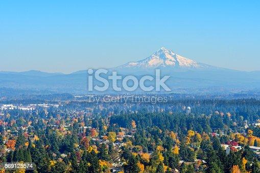 Mount Hood from Rocky Butte, Oregon