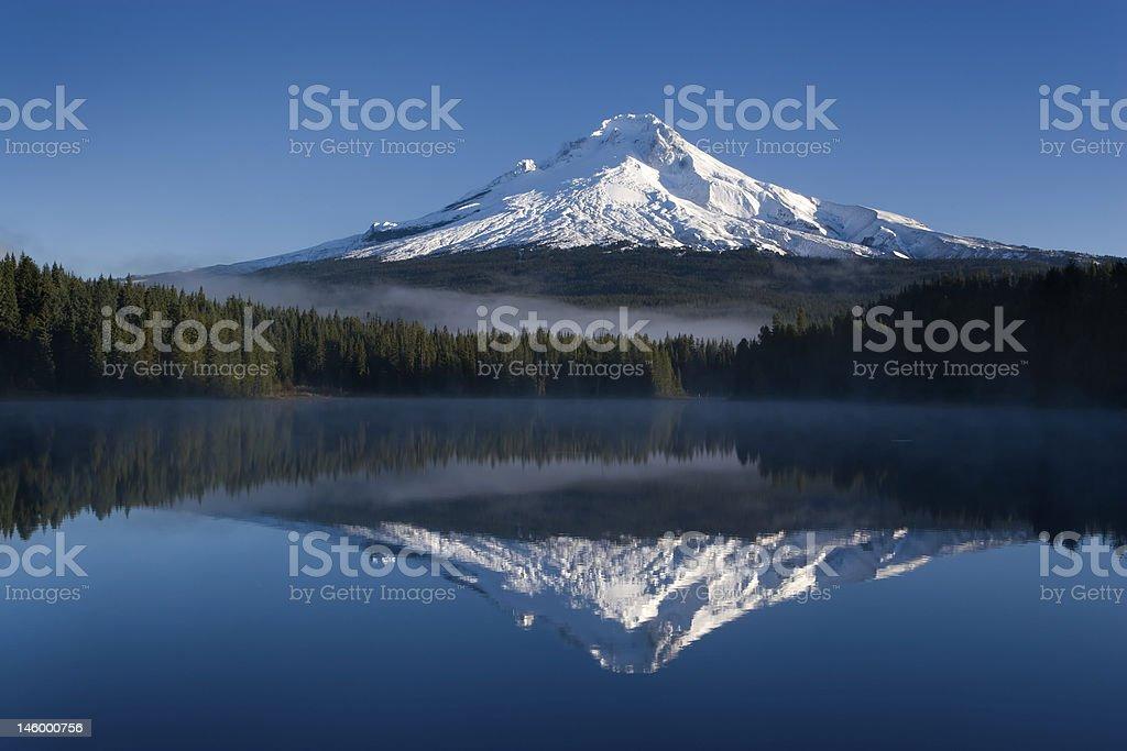 Mount Hood Trillium Lake royalty-free stock photo