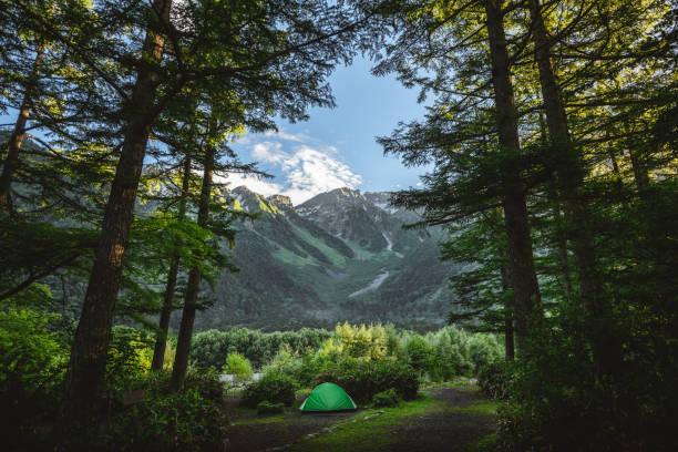 Mount Hotaka in Kamikochi national park stock photo