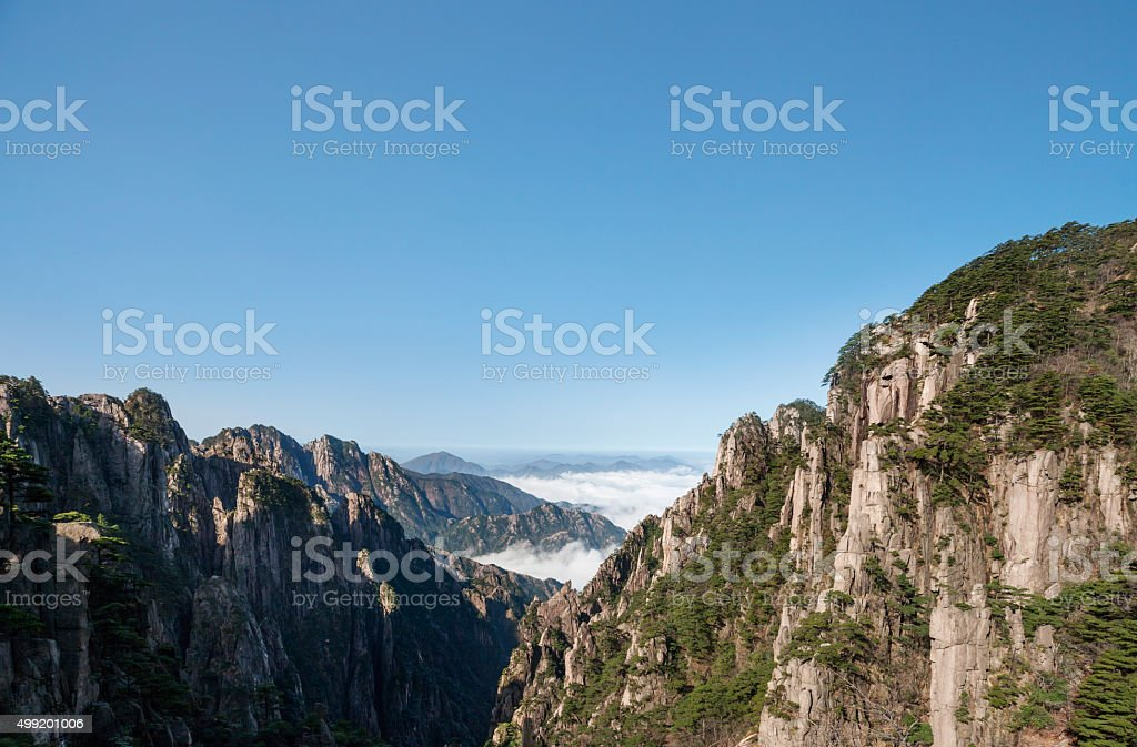 Mount Huangshan in Anhui Province stock photo
