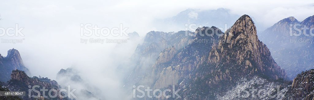 Mount Huangshan winter scenery royalty-free stock photo