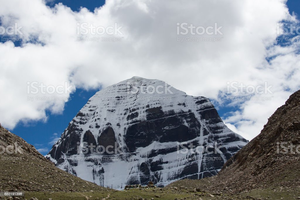 Mount Kailash Himalayas range Tibet Kailas yatra stock photo