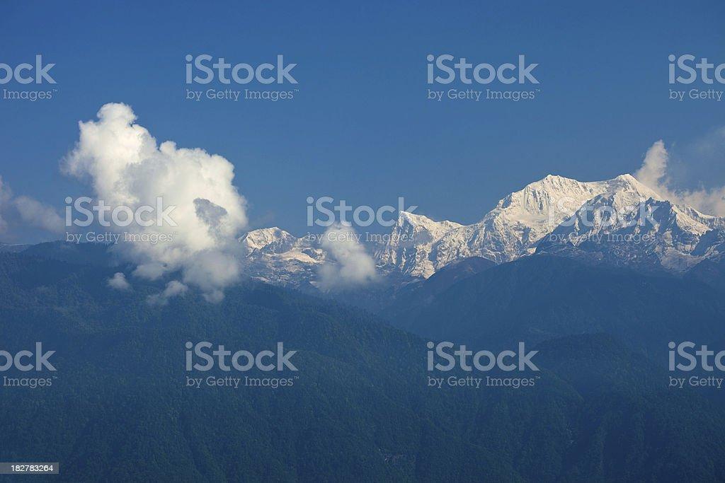 Mount Kanchendzonga Or Kangchenjunga royalty-free stock photo