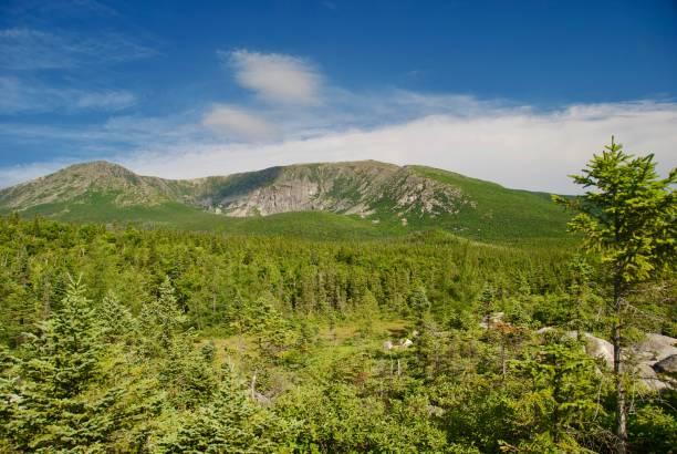 Mount Katahdin on a Beautiful Summer Day stock photo