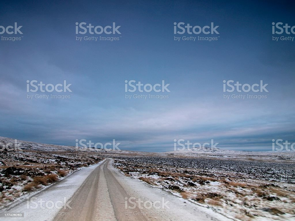 Mount Kent Road, East Falkland stock photo