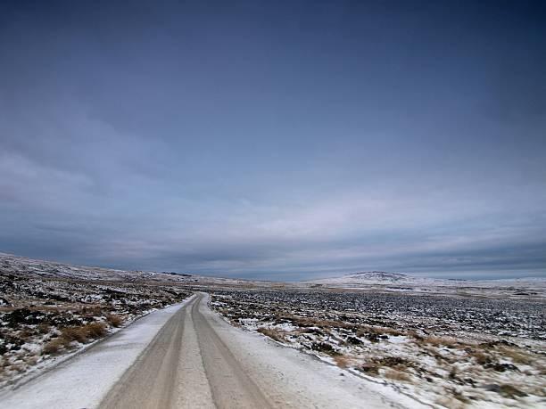 Mount Kent Road, East Falkland stock photo