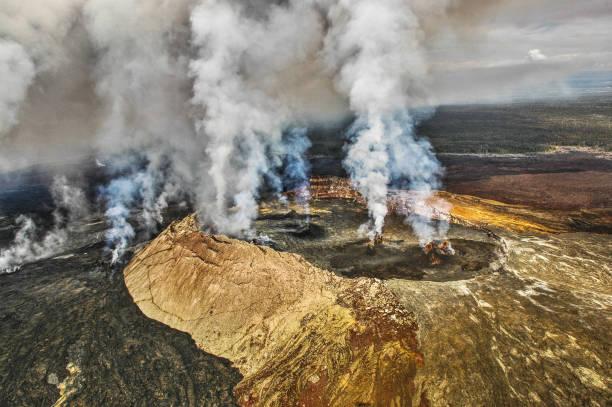 Mount Kilauea, HI stock photo