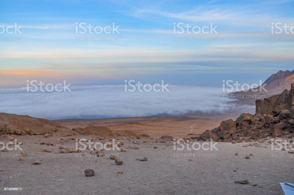 Mount Kilimanjaro stock photo