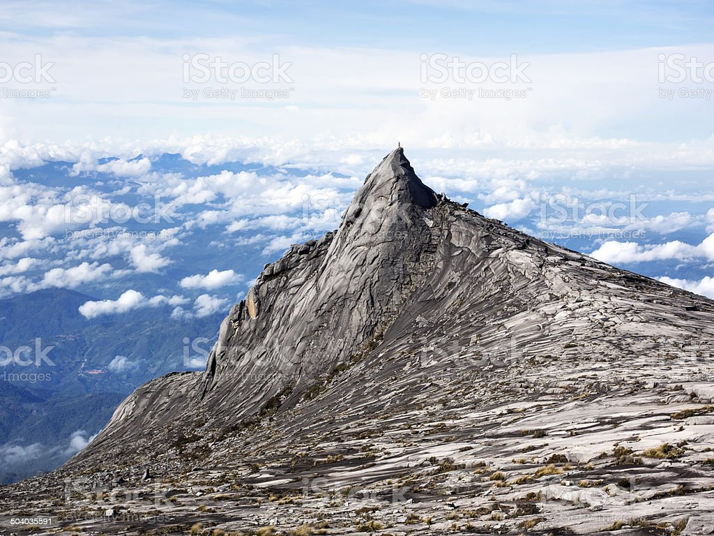 Mount Kinabalu in Sabah, Malaysia stock photo