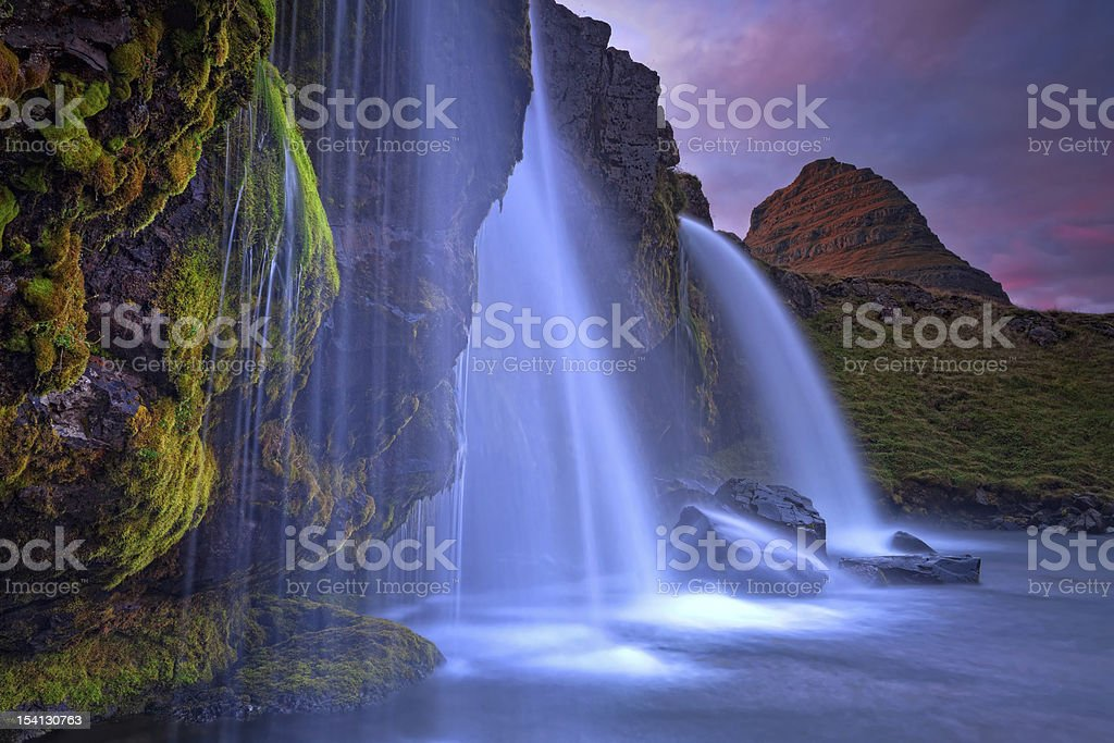 Mount Kirkjufell (Church mountain) in Iceland (Island) royalty-free stock photo