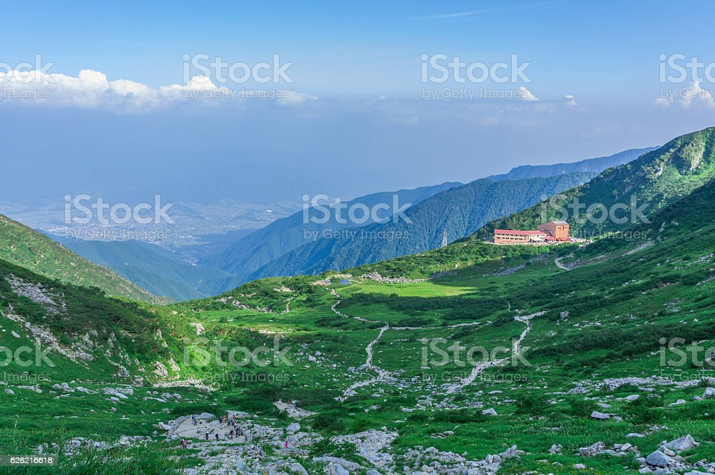 Mount. Kiso-Komagatake ,Central Alps,Nakano,Japan stock photo