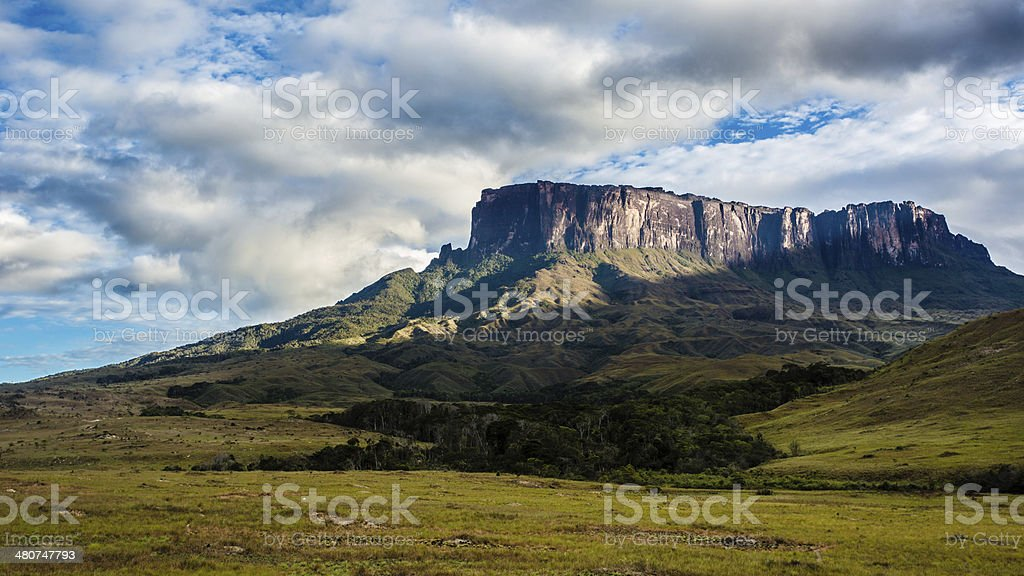 Mount Kukenan in Venezuela stock photo