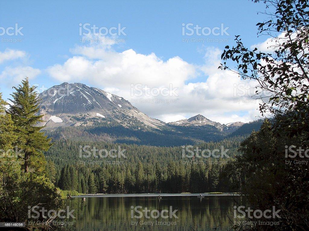 Mount Lassen A Volcano In California stock photo