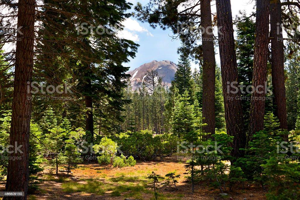 Mount Lassen Peak stock photo