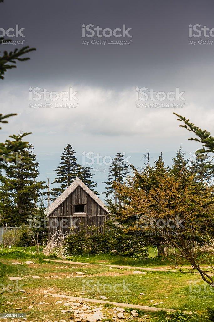 Mount LeConte Cabin stock photo