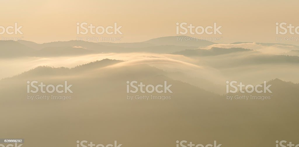 Mount LeConte sunrise in Great Smoky Mountains National Park stock photo