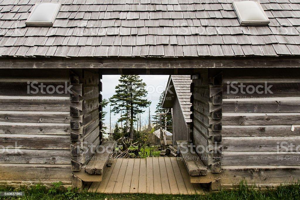 Mount LeConte Village Restroom stock photo