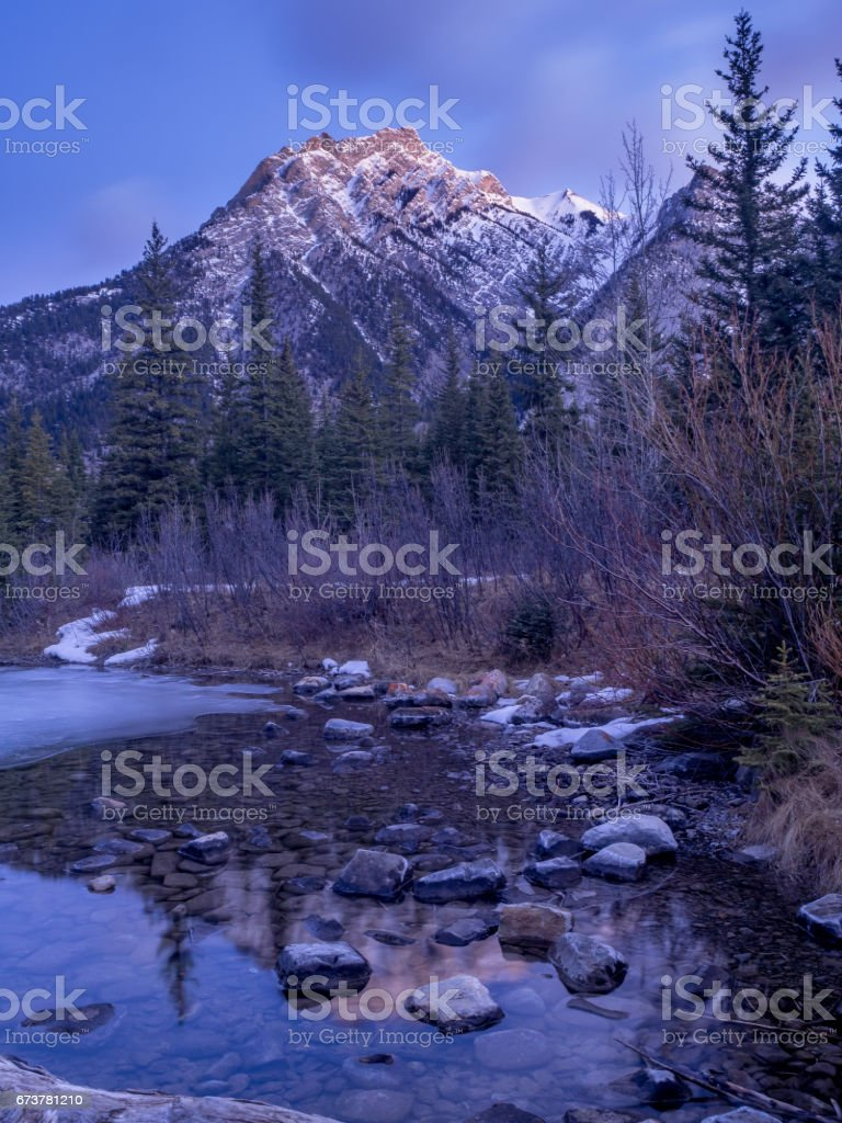 Mount Lorette Ponds in Kananaskis royalty-free stock photo