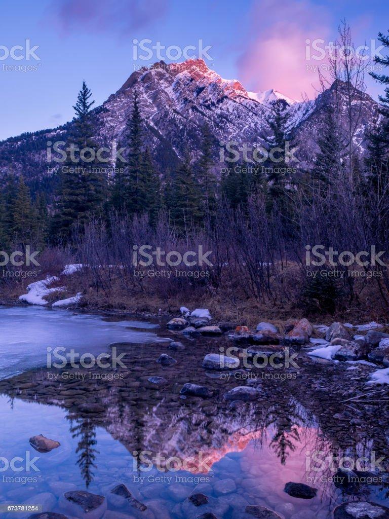 Mount Lorette Ponds in Kananaskis photo libre de droits